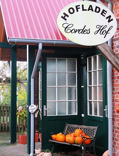 Cordes Hof - Eingang Hofladen